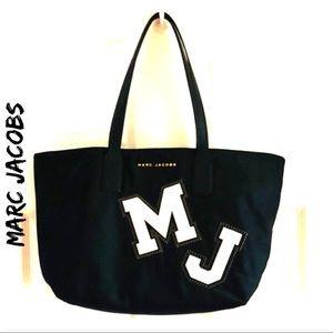 NWT - MARC JACOBS Black M J Initial Tote Bag